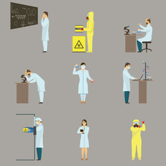 Set of Scientific Characters.