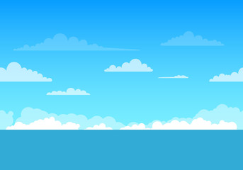 Vector Illustration of an Unending Sea Background