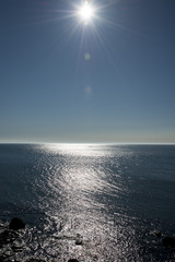 逆光のオホーツク海