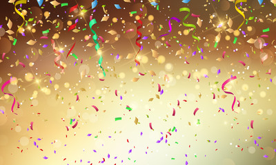 Confetti and streamers background