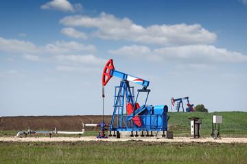 two pump jack oil industry