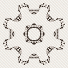 Filigree Flower Henna Pattern