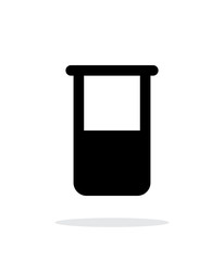 Laboratory glass simple icon on white background.