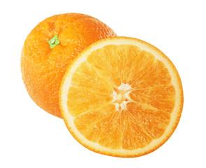 oranges isolated on white