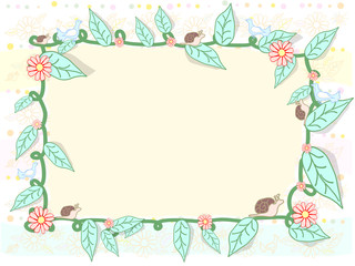 Painted frame of natural objects vector