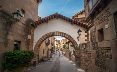Pathways, boutiques & shops, inner villages in Barcelona, Spain.
