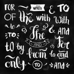 Vector hand drawn ampersands and catchwords