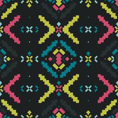 Vector Geometric background, Tribal seamless pattern
