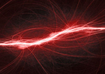 Fantasy red lightning, electrical background