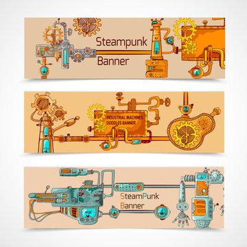 Steampunk Banner Set