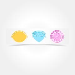 Creative design card with lemons