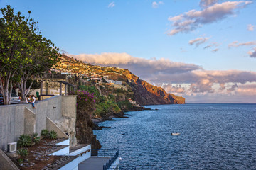 seafront in Funchal, Madeira island, Portugal