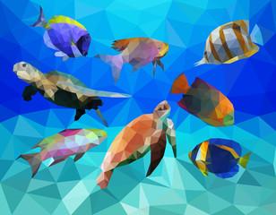 Ocean Life Low Poly