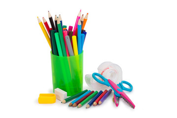 Office, markers, pen
