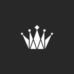Crown black and white logo, royal symbol