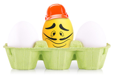 Success Leader  Symbol Concept egg in box isolated