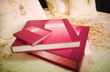 rose leather wedding photo book album