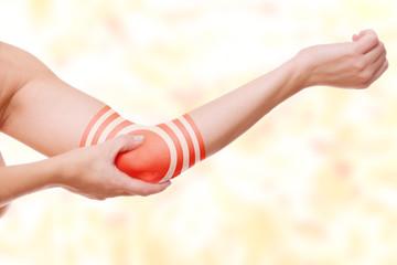 Ellbogenschmerz - Zielscheibe Markierung