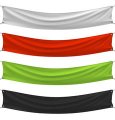 Set of banners in different colors