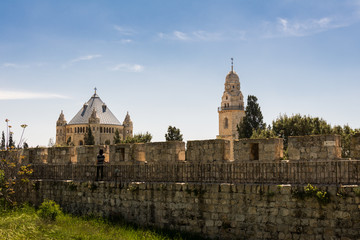 Dormition Abbey viewed from the Jerusalem city wall