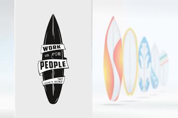Sketch surfing illustration logo emblem with lettering