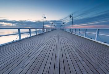 Fototapeta premium Seascape z molem. Molo w Orłowie, Gdynia