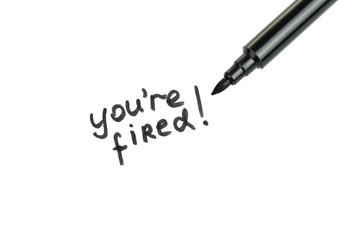 you fired written