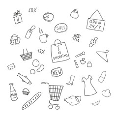 collection of items from the shopping areas
