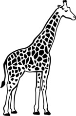 Giraffe silhouette with pattern