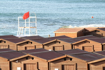 Cabins On Beach, italy, sicily