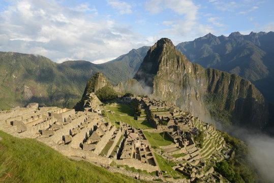 View at ancient Inca town of Machu Picchu.