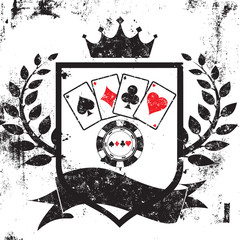 Poker shield insignia