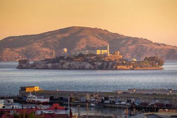 Wall Mural - Alcatraz Island in San Francisco, USA.