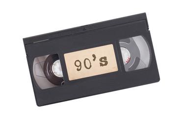 Retro videotape isolated on white