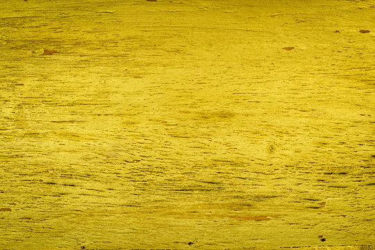 Yellow wood texture background, grunge wood wall