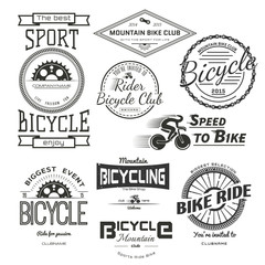 Bicycle badges logos and labels for any use.