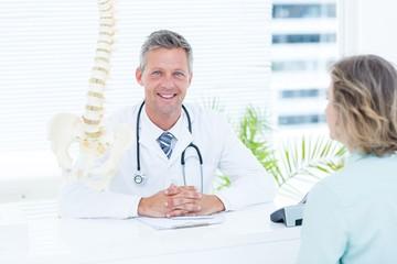 Doctor smiling at camera