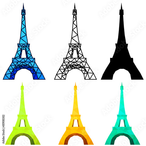 Low Poly Eiffel Tower Stock Image And Royalty Free Vector Files On