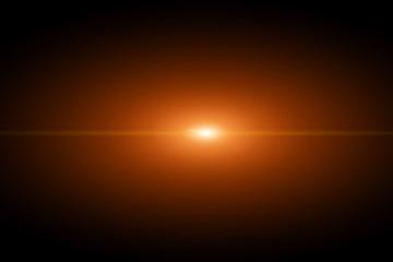 Vector star, sun with lens flare.