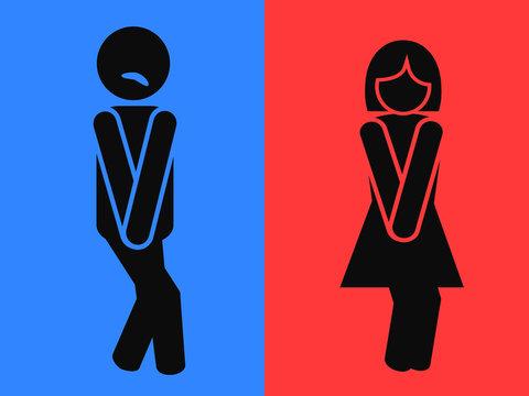 funny wc restroom symbols