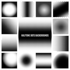 Wall Mural - Halftone dots backgrounds
