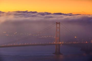 Wall Mural - Golden Gate Bridge and downtown San Francisco