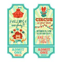 Circus Tickets Set