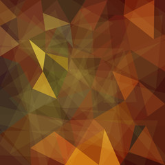 Abstract brown geometric background with triangular polygons