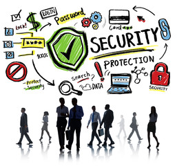 Business Office Worker Security Protection Information Concept