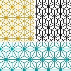 abstract modern geometric hexagon pattern in tree style