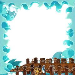 Cartoon frame - illustration for the children