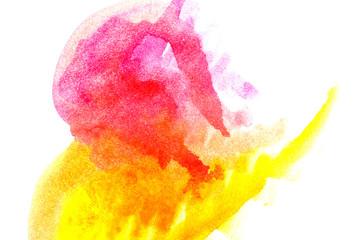 Yellow Magenta abstract watercolors.