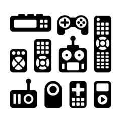 Remote Control Icons Set