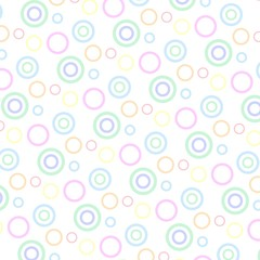 Nahtloses skalierbares Muster mit Kreisen